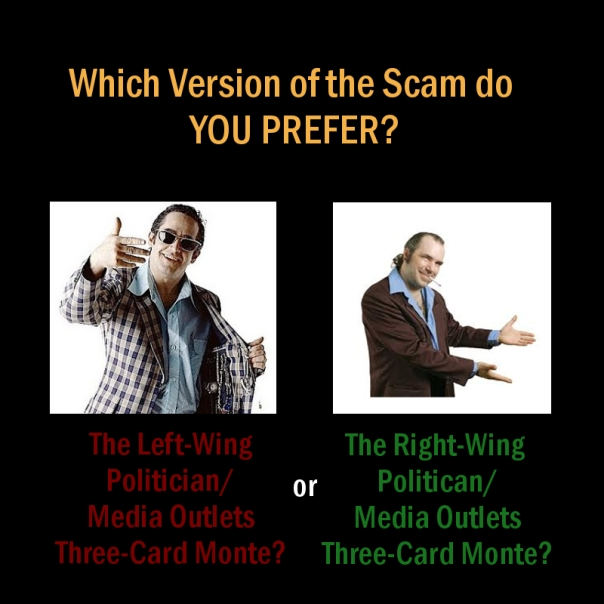 Political three card monte